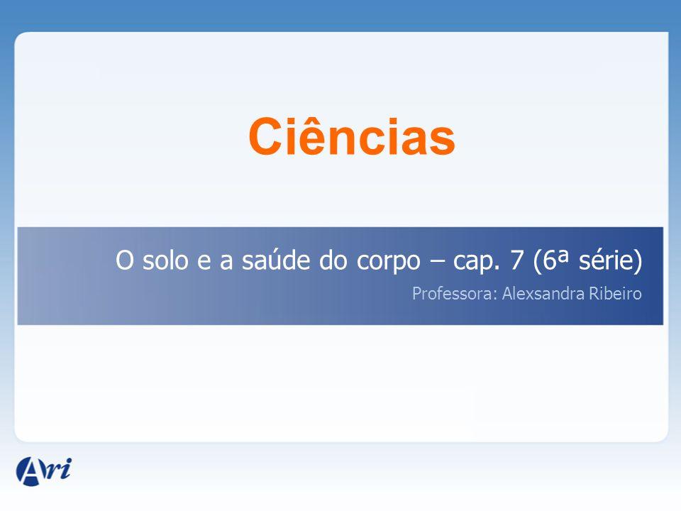 Ciências O solo e a saúde do corpo – cap. 7 (6ª série)
