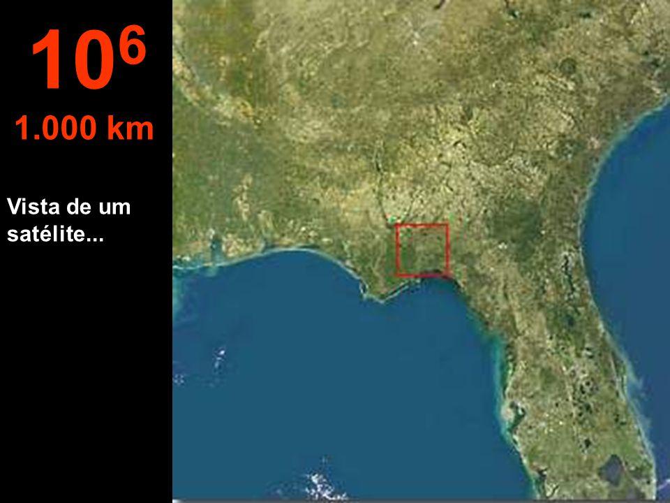 106 1.000 km Vista de um satélite...