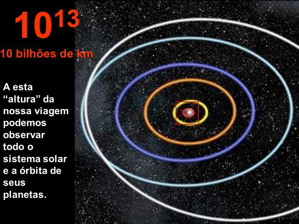 1013 10 bilhões de km.