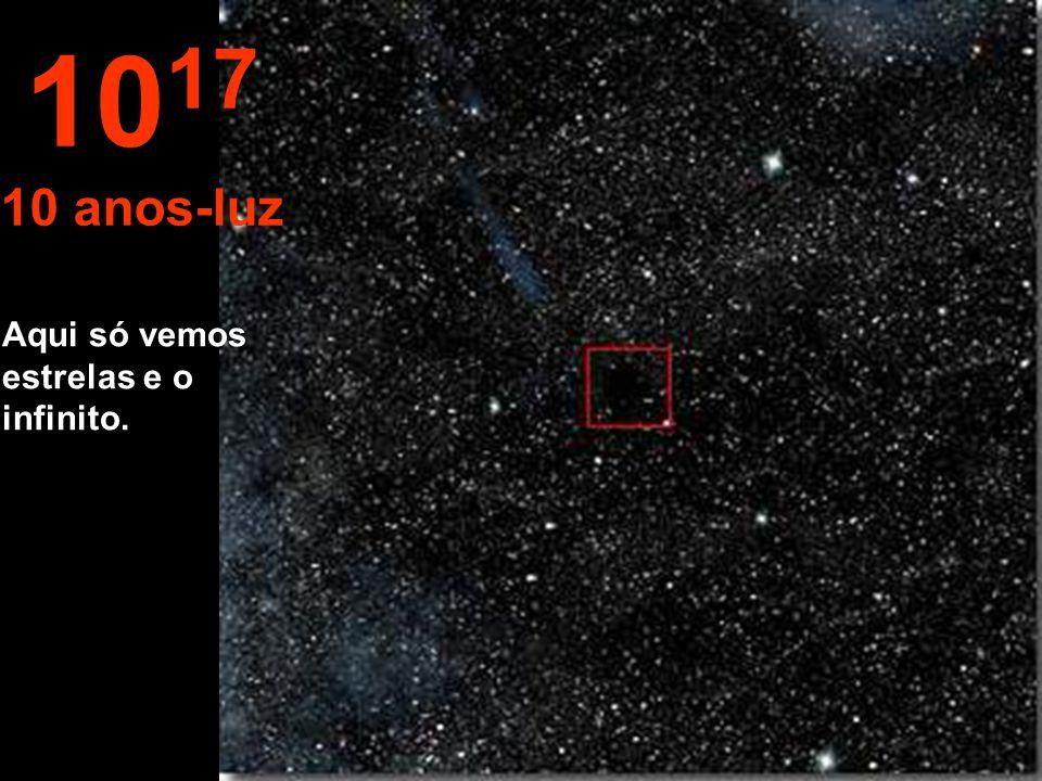 1017 10 anos-luz Aqui só vemos estrelas e o infinito.