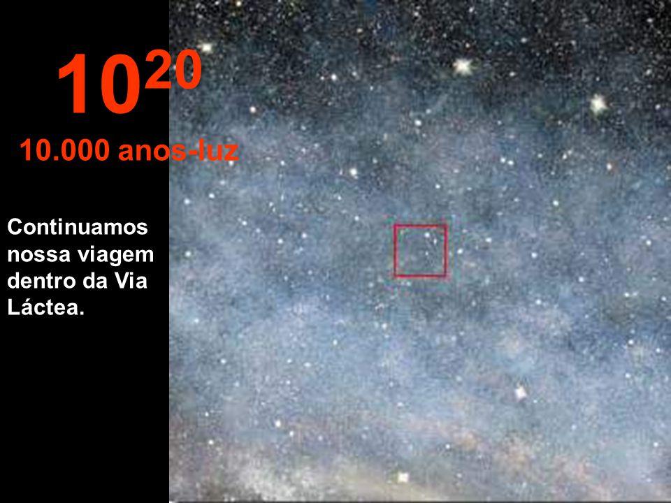 1020 10.000 anos-luz Continuamos nossa viagem dentro da Via Láctea.