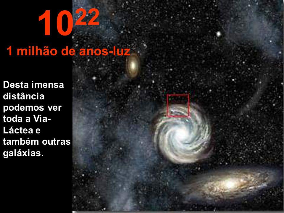 1022 1 milhão de anos-luz.