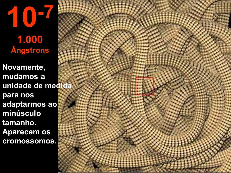 10-7 1.000 Ângstrons.