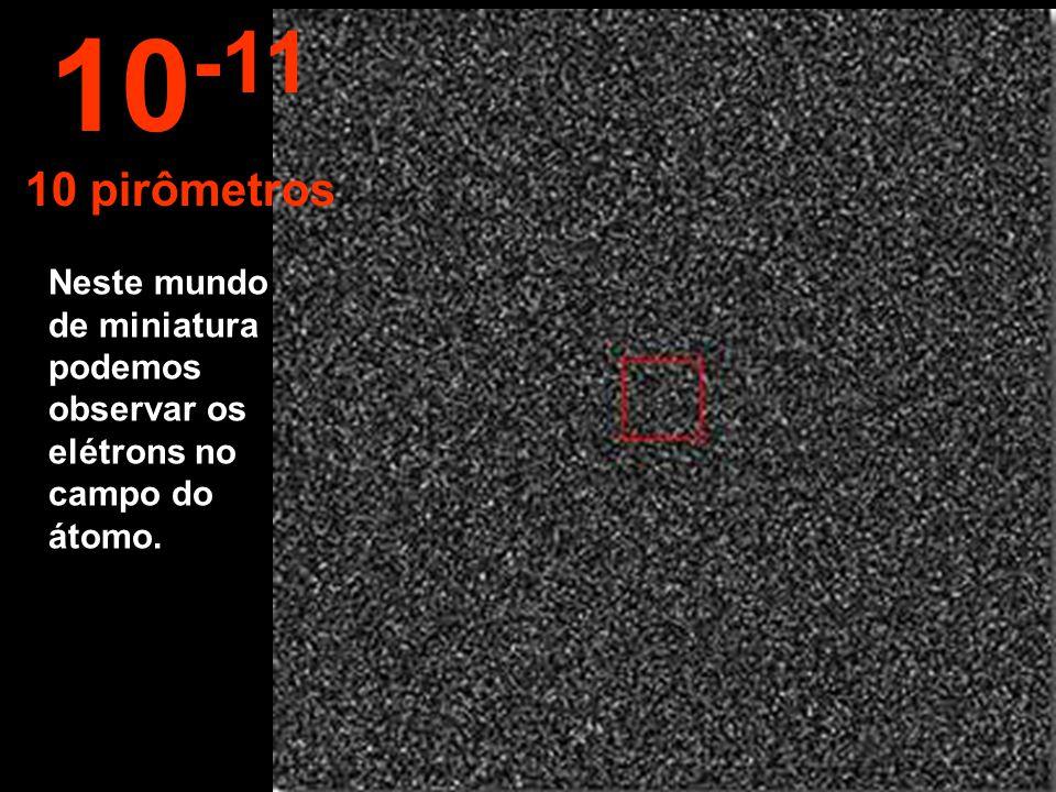 10-11 10 pirômetros Neste mundo de miniatura podemos observar os elétrons no campo do átomo.