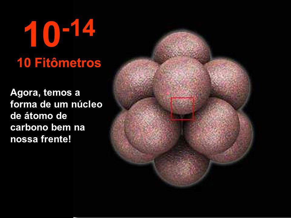 10-14 10 Fitômetros Agora, temos a forma de um núcleo de átomo de carbono bem na nossa frente!