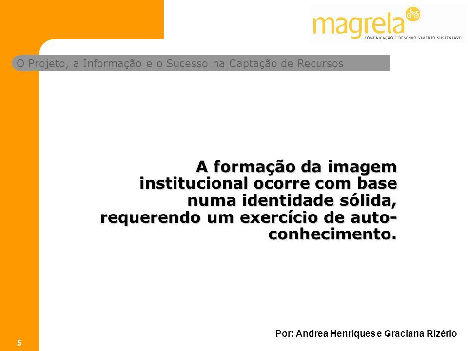 A formação da imagem institucional ocorre com base numa identidade sólida, requerendo um exercício de auto-conhecimento.