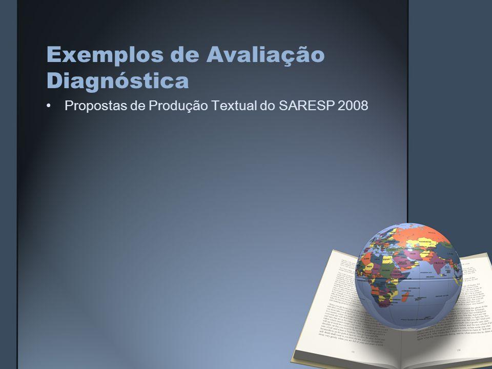 Exemplos de Avaliação Diagnóstica