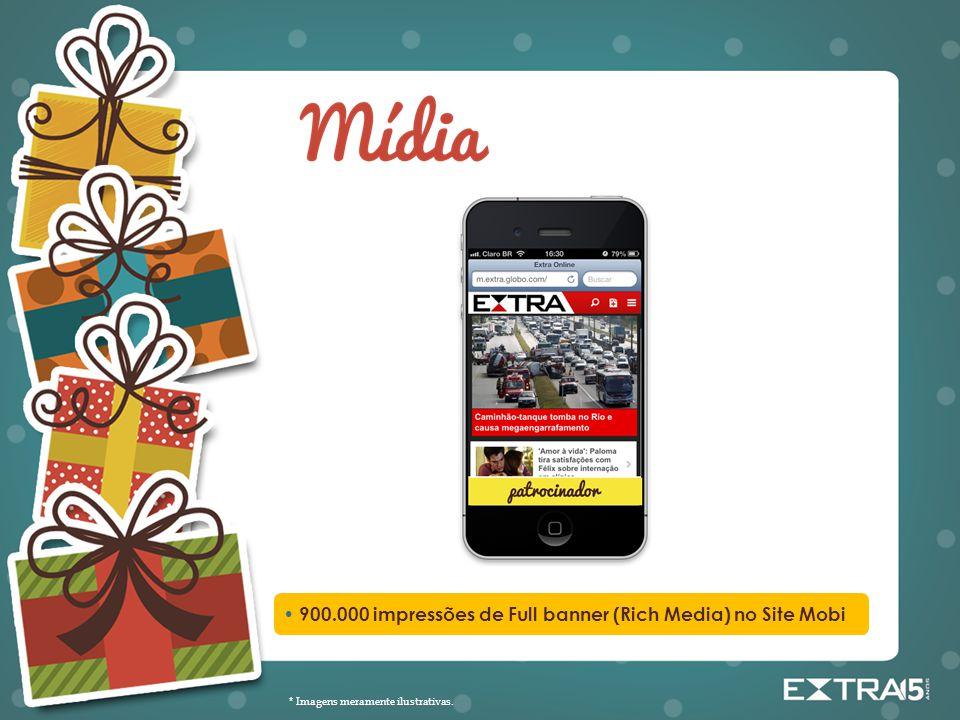 • 900.000 impressões de Full banner (Rich Media) no Site Mobi