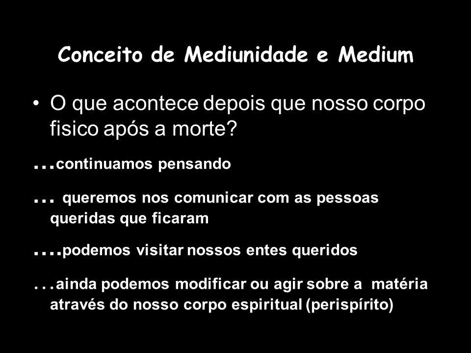 Conceito de Mediunidade e Medium