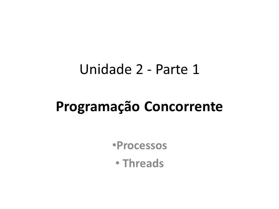 Unidade 2 - Parte 1 Programação Concorrente