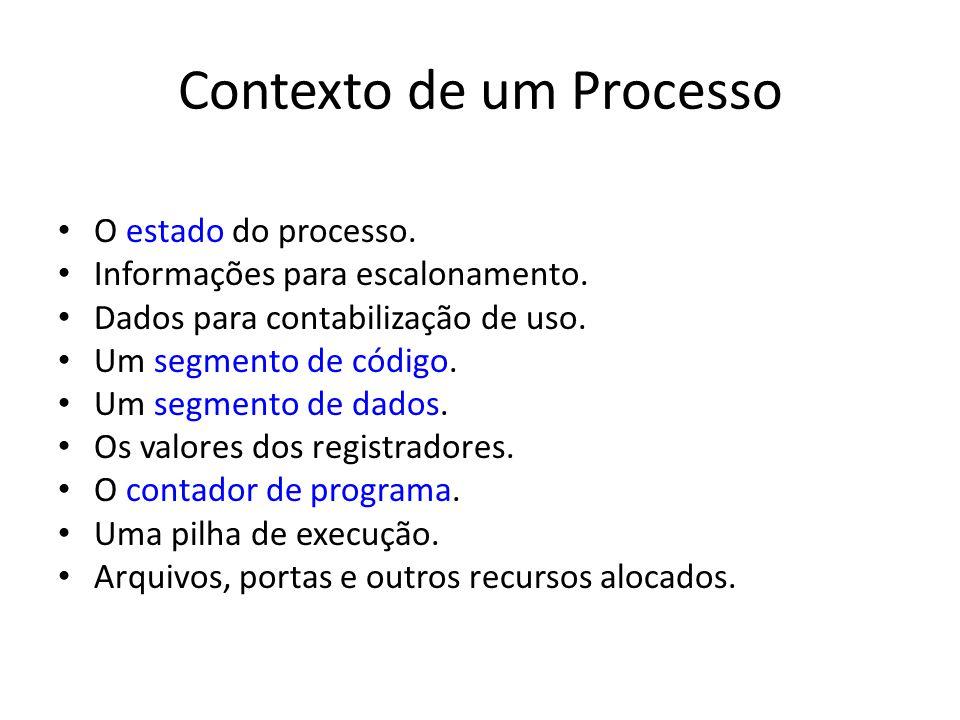 Contexto de um Processo