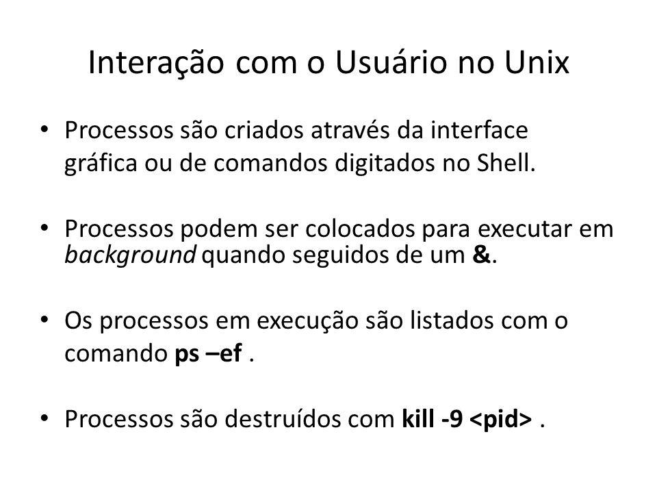 Interação com o Usuário no Unix