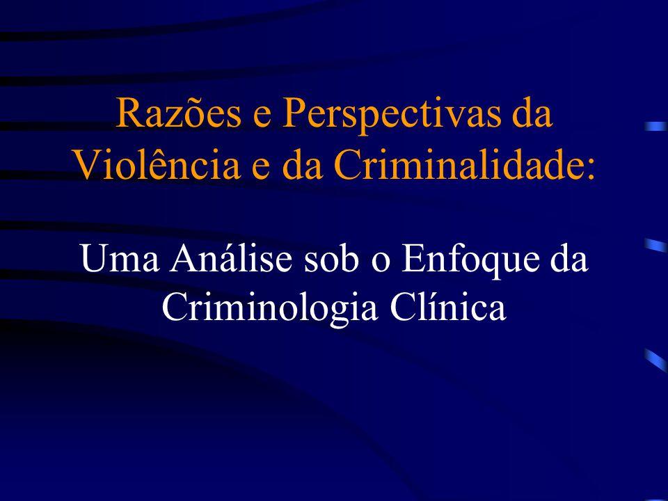 Razões e Perspectivas da Violência e da Criminalidade: