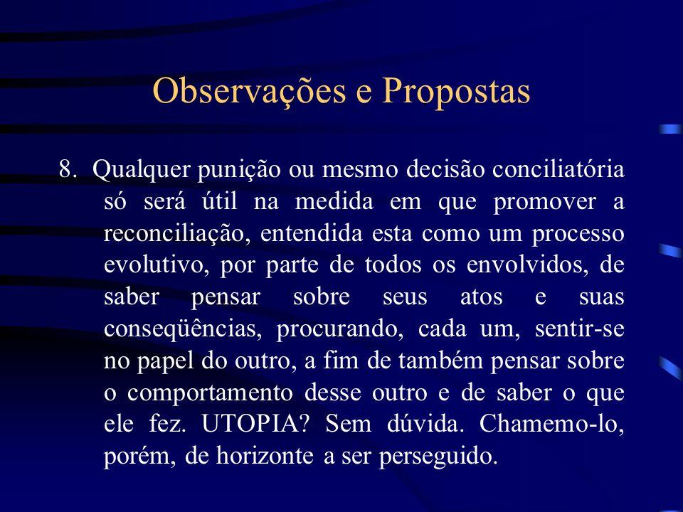 Observações e Propostas