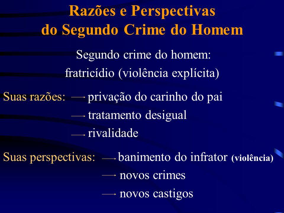 Razões e Perspectivas do Segundo Crime do Homem