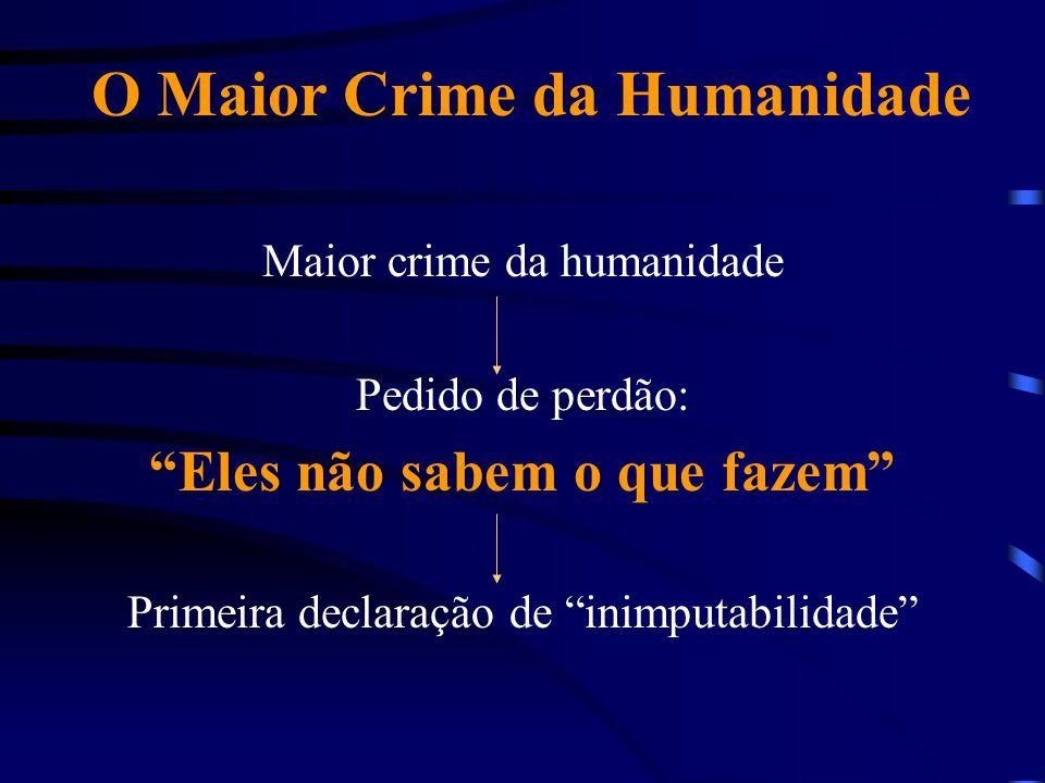 O Maior Crime da Humanidade