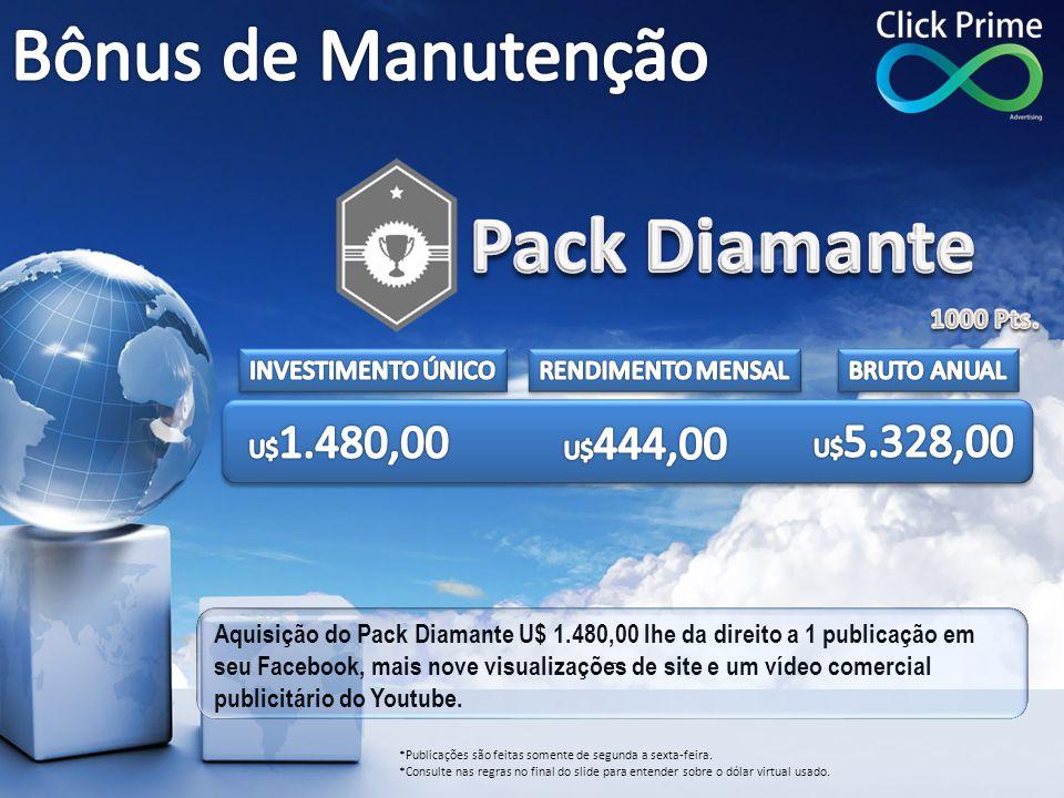 Pack Diamante Bônus de Manutenção 1000 Pts. INVESTIMENTO ÚNICO