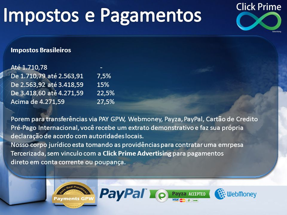 Impostos e Pagamentos Impostos Brasileiros Até 1.710,78 -