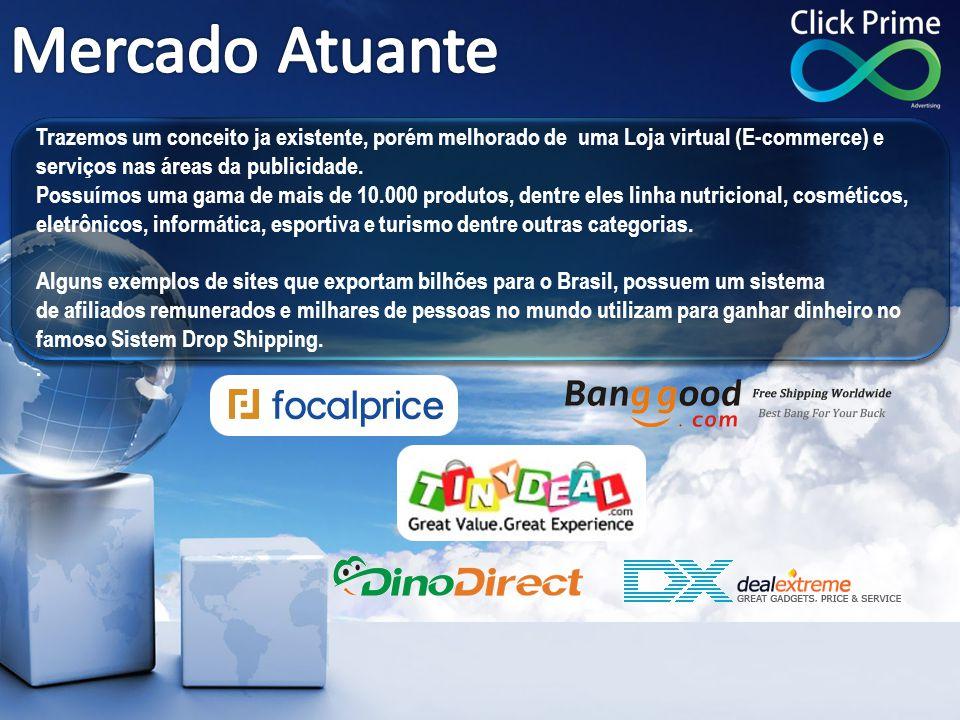 Mercado Atuante Trazemos um conceito ja existente, porém melhorado de uma Loja virtual (E-commerce) e.