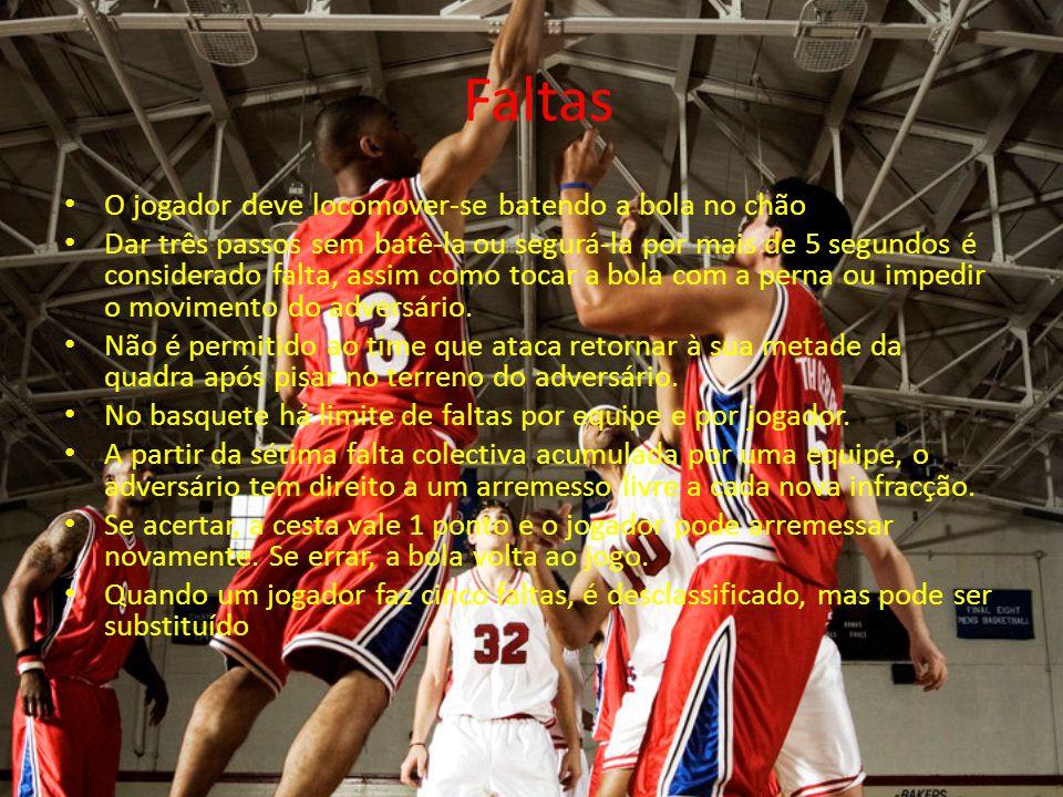 Faltas O jogador deve locomover-se batendo a bola no chão