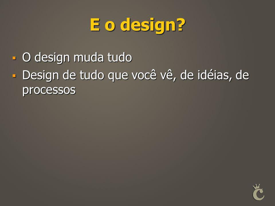 E o design O design muda tudo