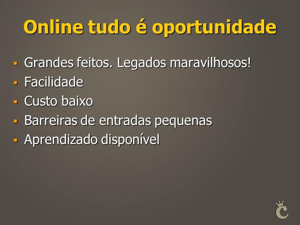 Online tudo é oportunidade
