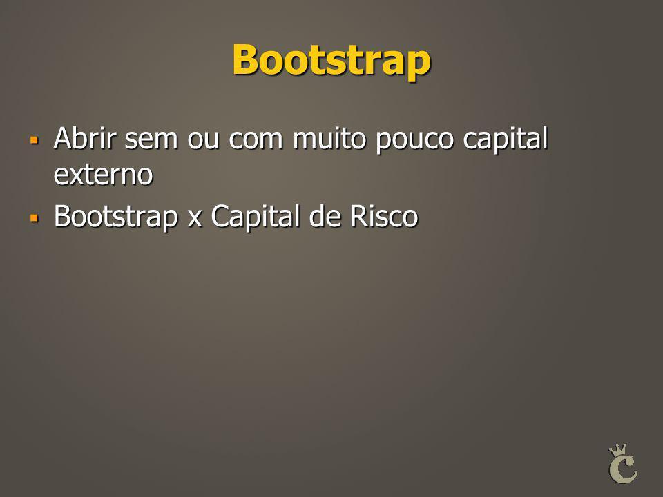 Bootstrap Abrir sem ou com muito pouco capital externo