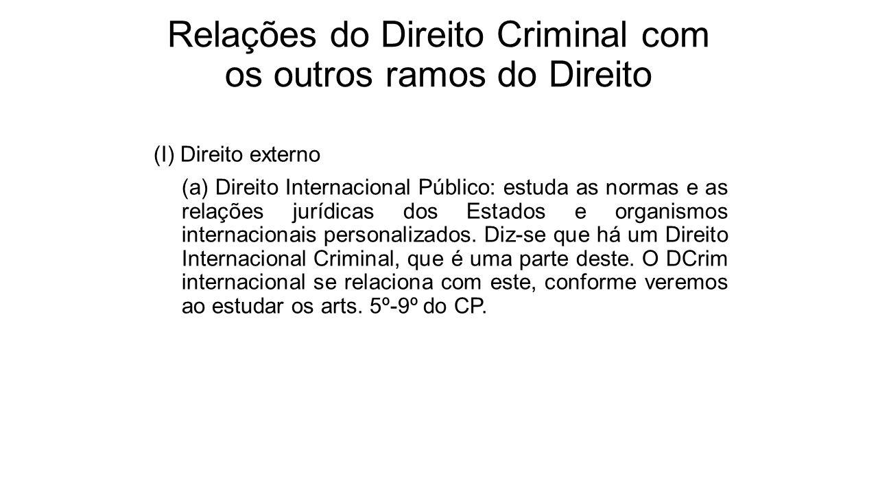 Relações do Direito Criminal com os outros ramos do Direito