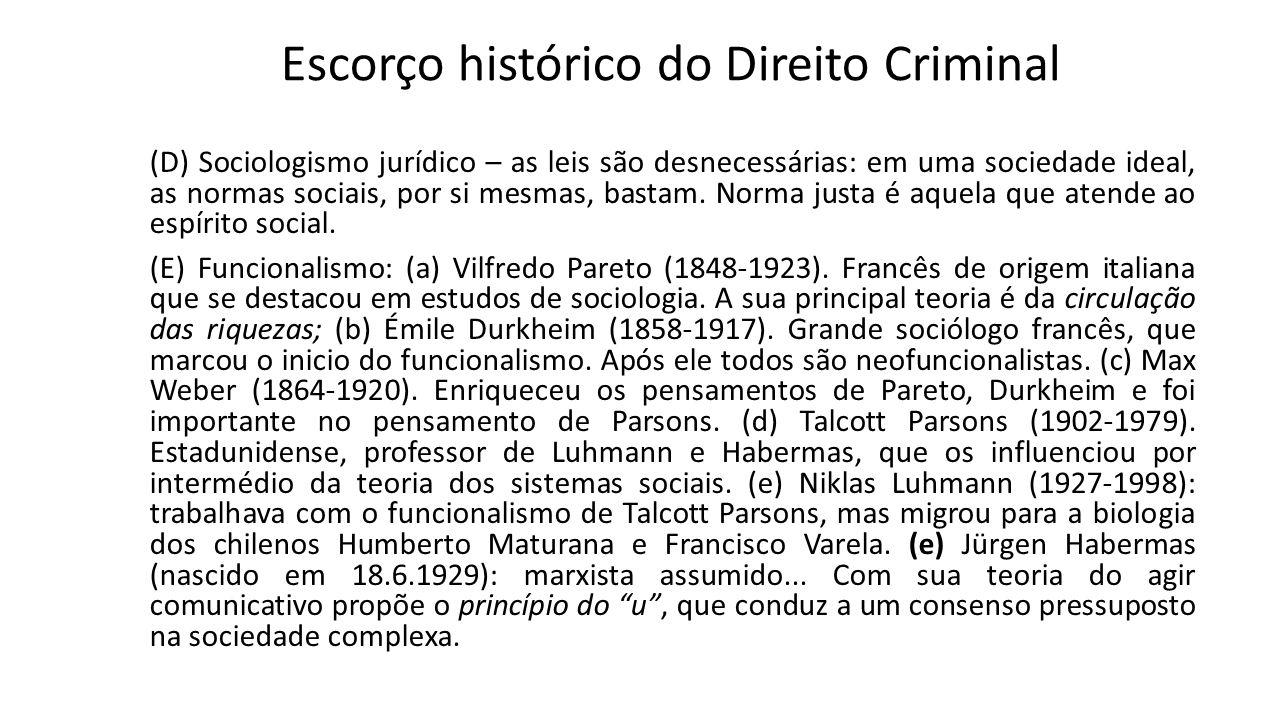 Escorço histórico do Direito Criminal