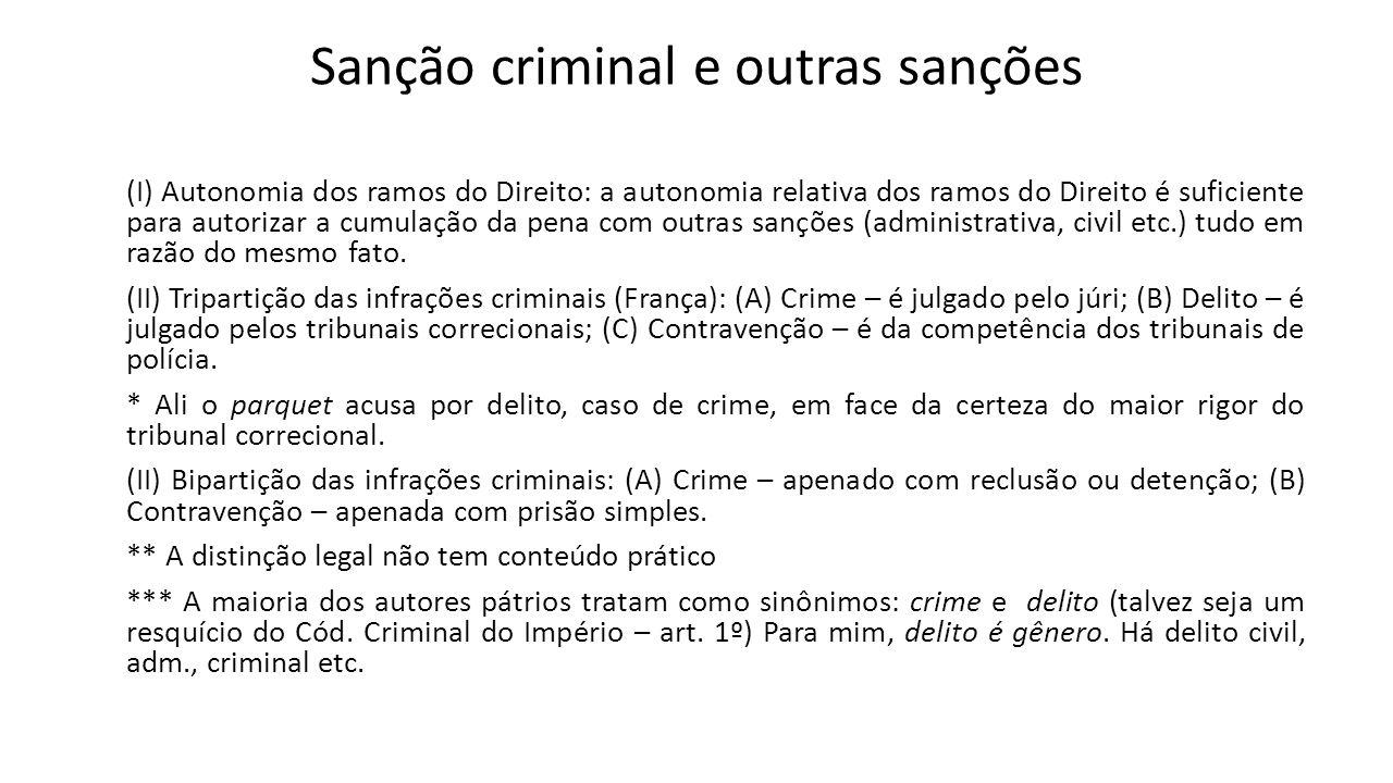 Sanção criminal e outras sanções
