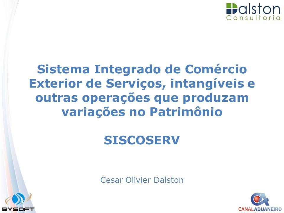 Sistema Integrado de Comércio Exterior de Serviços, intangíveis e