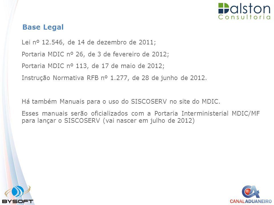 Base Legal Lei nº 12.546, de 14 de dezembro de 2011;