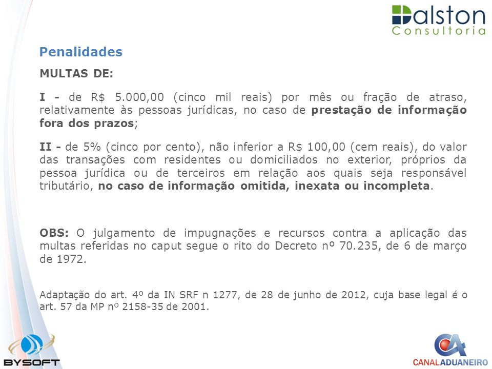 Penalidades MULTAS DE: