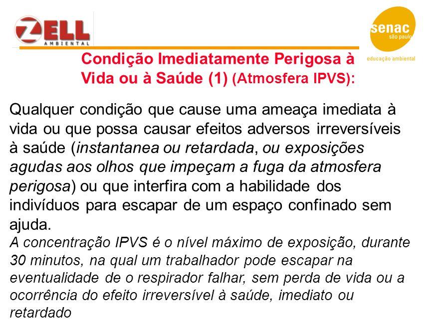 Condição Imediatamente Perigosa à Vida ou à Saúde (1) (Atmosfera IPVS):