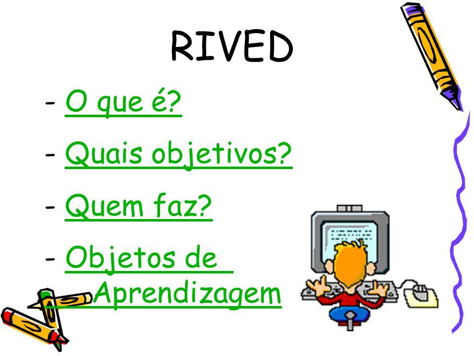 RIVED O que é Quais objetivos Quem faz Objetos de Aprendizagem