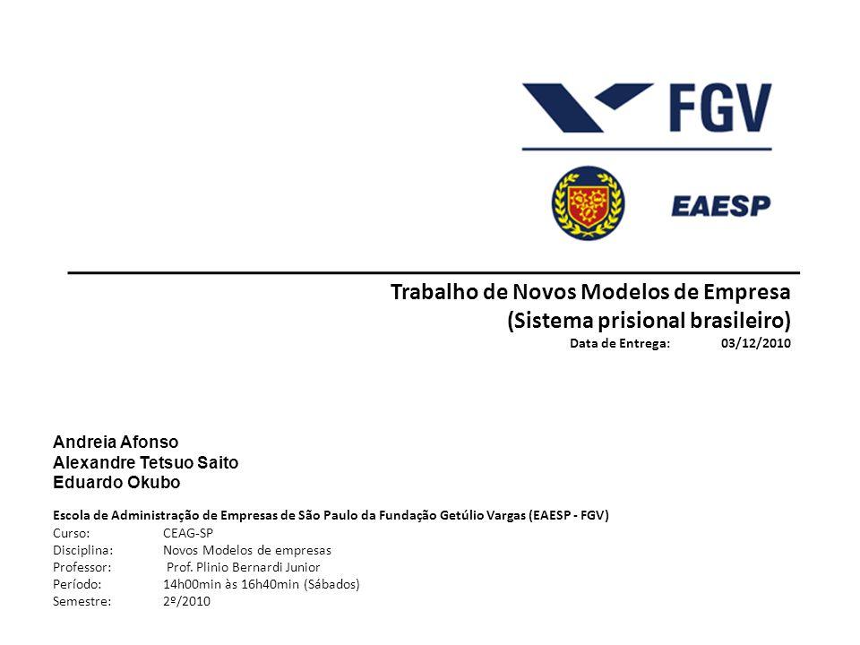 Trabalho de Novos Modelos de Empresa (Sistema prisional brasileiro)