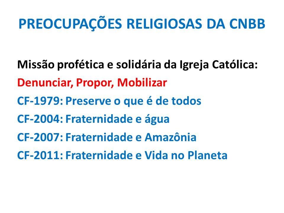 PREOCUPAÇÕES RELIGIOSAS DA CNBB