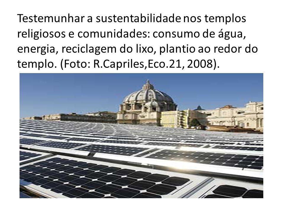 Testemunhar a sustentabilidade templos religiosos