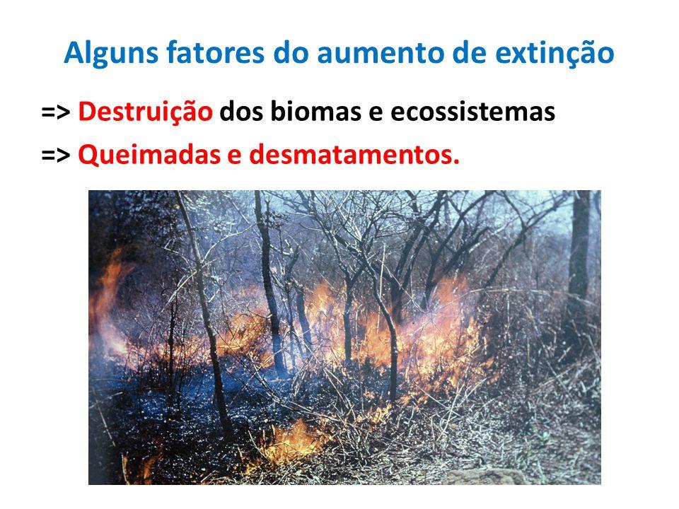 Alguns fatores do aumento de extinção