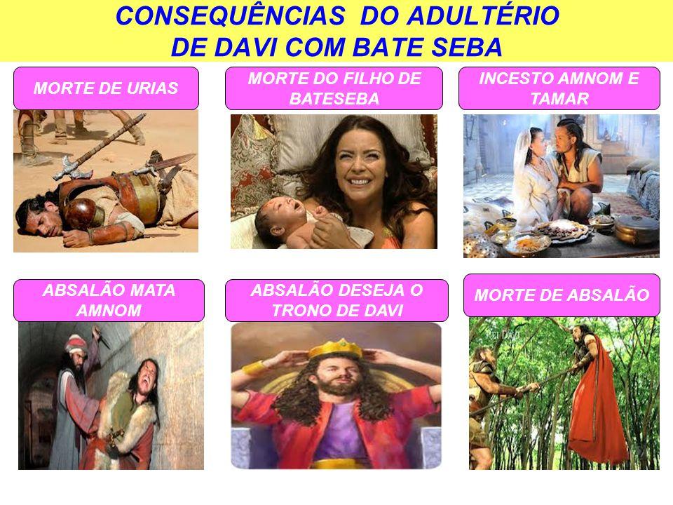 CONSEQUÊNCIAS DO ADULTÉRIO DE DAVI COM BATE SEBA