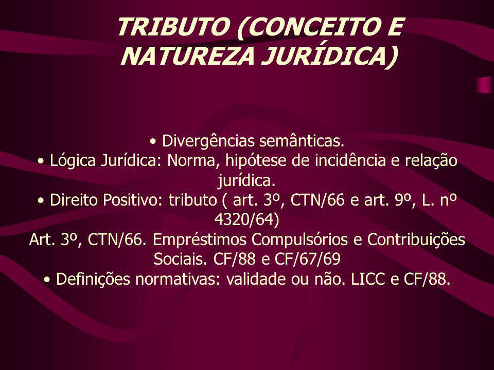 TRIBUTO (CONCEITO E NATUREZA JURÍDICA)