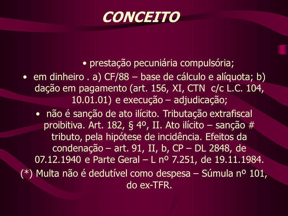 CONCEITO prestação pecuniária compulsória;
