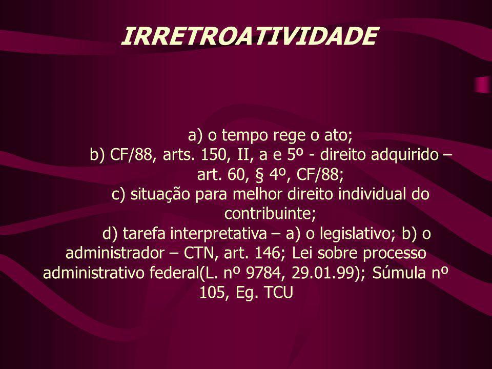 c) situação para melhor direito individual do contribuinte;