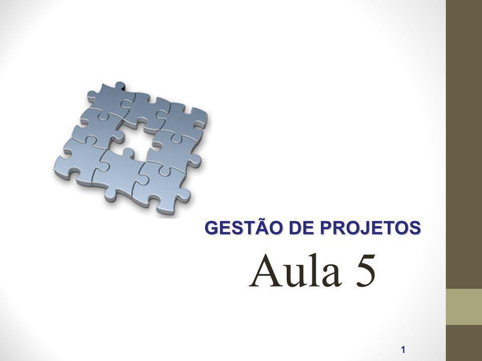 GESTÃO DE PROJETOS Aula 5 1