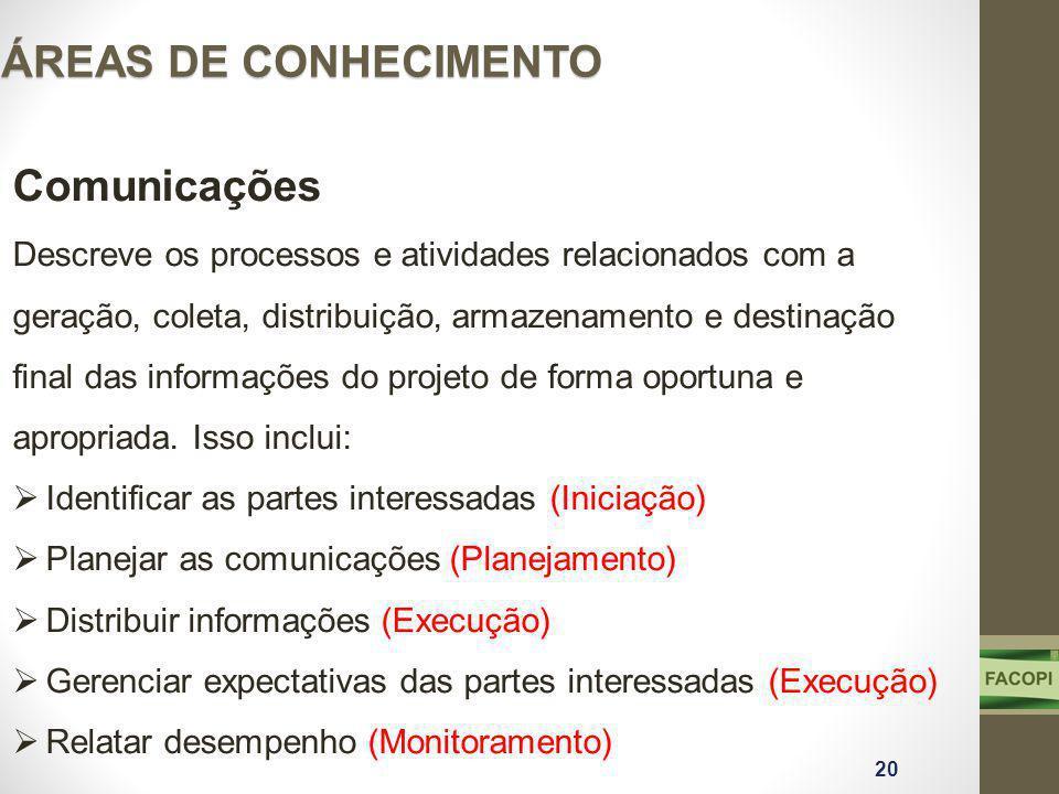 ÁREAS DE CONHECIMENTO Comunicações