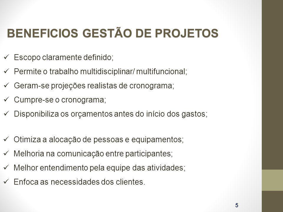 BENEFICIOS GESTÃO DE PROJETOS