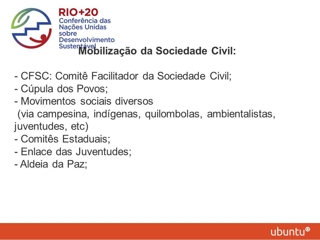 Mobilização da Sociedade Civil: