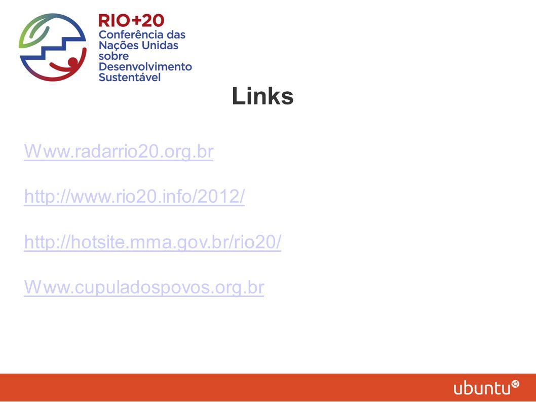 Links Www.radarrio20.org.br http://www.rio20.info/2012/