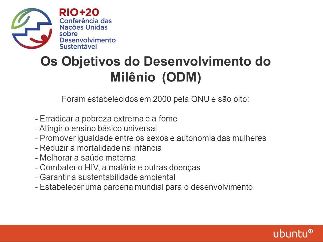 Os Objetivos do Desenvolvimento do Milênio (ODM)
