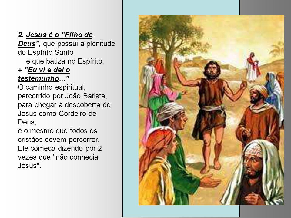 2. Jesus é o Filho de Deus , que possui a plenitude do Espírito Santo